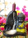 Smokey Polyresin Baby Buddha Statue