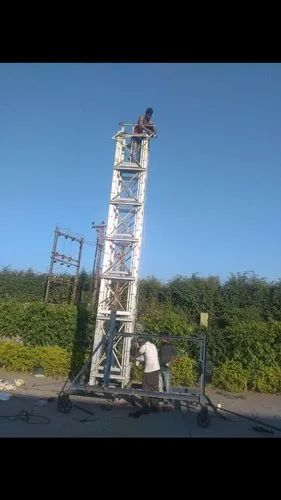 Silver Aluminium Tower Ladder