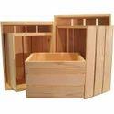 Brown Wooden Pine Crates