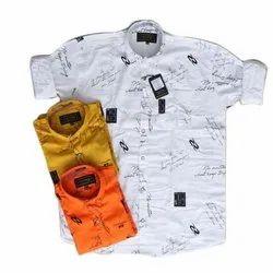 Cotton Mens Printed Stylish Shirts, Size: XXL
