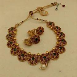 Karishma Kreations Matte Finish Jewellery Set - 1459