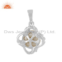 Designer White Rhodium Plated Sterling Silver Pearl Pendant Jewelry