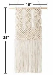 Handmade White Macrame, For Decoration, Size: According To Requirment