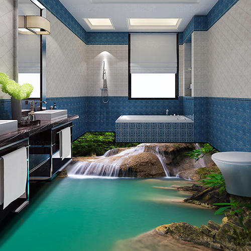 100 Sq Ft 3d Epoxy Flooring 3d Bathroom Flooring Rs 450 Square Feet Am Designs Id 15887475591