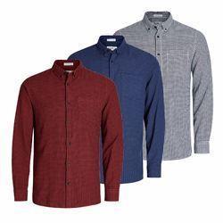 Cotton Checked Men's Party Wear Shirt