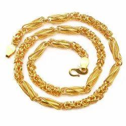 831e89b96915d Men's Gold Plated Lotus Chain. at Rs 189 /piece | Johari Bazar ...