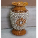 Beaded Embroidery Wooden Vase