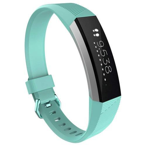 Silicone Replacement Band With Metal Clasp For Fitbit Alta Hr And Alta  Classic (teal)