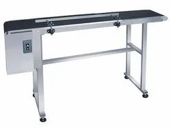 Inkjet Flat Belt Batch Coding Conveyor -Stainless Steel