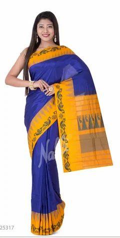 4774036ec099e Ceremony Plain Body Blue Bangalore Silk Saree
