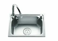 Stainless Steel Square Kitchen Sink 520x380 1.2mm, For New
