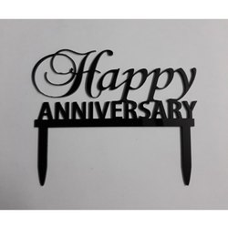 Happy Anniversary Acrylic Toppers