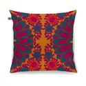 Splendid Flower Motif Cushion Cover