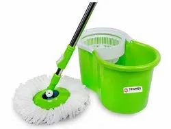 Green Polyester Triones Smart Cleaning MOP - 003, Size: Medium