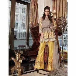 Patiala Salwar Maria B Designer Bridal Chiffon Suit