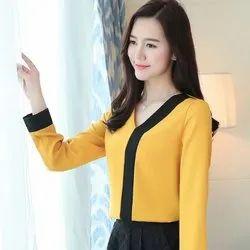 Heavy American crepe Formal Wear Ladies Designer Top, Size: S-XL