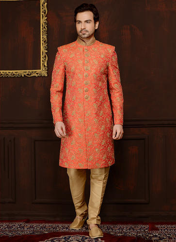 4c22e694ef06 Banarasi Silk Wedding Heavy Embroidery Groom Sherwani Collection, Rs ...