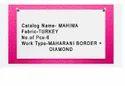 Mahima Turkey With Maharani Border With Stone Work Saree