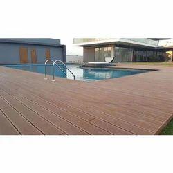 Brown WPC Deck Flooring Service