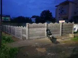 RCC Precast compound wall in nagpur, Shape: Rectangular
