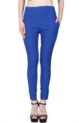 Cotton Blue STC Skinny Fit Women Black Trousers, Size: Free