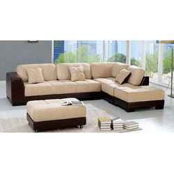 Microfiber L Shaped Sofa Set