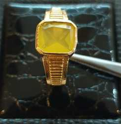 Yellow Sapphire Natural Gold Ring