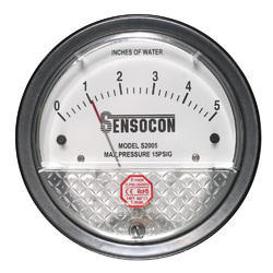 Sensocon USA Differential Pressure Gauge 0 To 150 Mm Wc