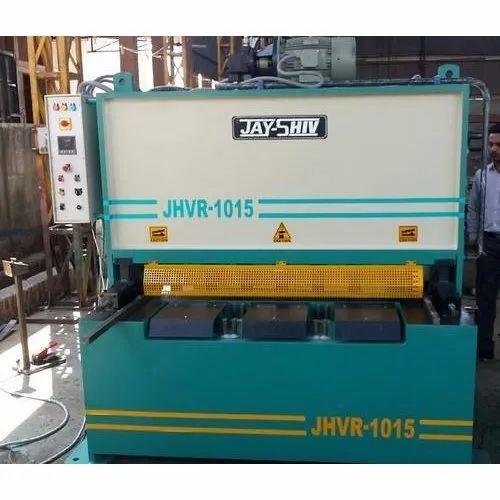 Shearing Machine Jhvr 1015 Hydraulic Shearing Machine Manufacturer From Rajkot