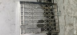 Sliding Silver SS Channel Gate, For Home