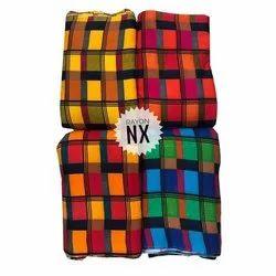 Vitrag Nx Designer Multicolor Rayon Fabric, 140
