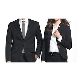 White & Black Poly Cotton Formal Corporate Uniform