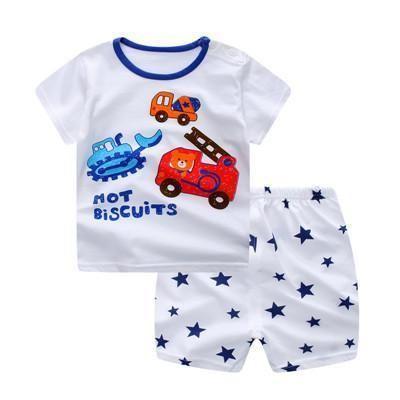 Summer Baby Boys Clothing Set Casual Sport Cartoon Digging At Rs