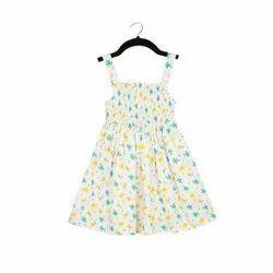 Cotton Kids Girls Floral Jersey Dress