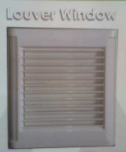 BROWN And TEAK LOUVER WINDOW
