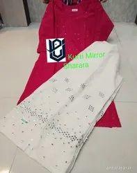 Cotton Anarkali Chikankari Suit
