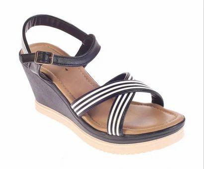 2f3ccf0f9514 Khadim  s Synthetic Cleo Black Casual Heel Sandal