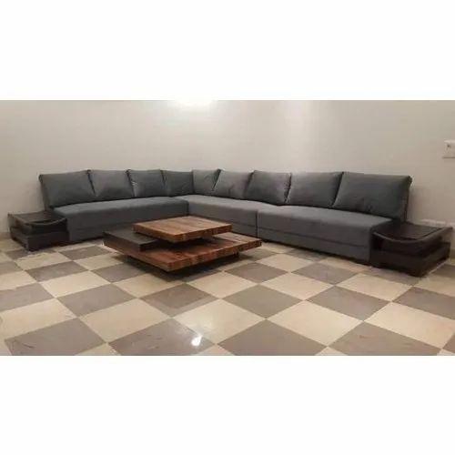 Grey Modern L Shape Sofa Set Rs 64500, Grey Modern Sofa Set