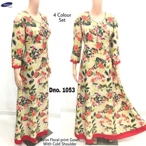 Medium , XL Casual Wear, Party Wear Long Gown Style Kurti, Rs 725 ...