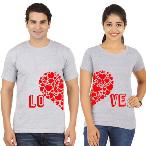 sublimation couple t shirt सब्लिमेशन टी शर्ट  p and h