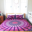 Queen Size Handmade Mandala Tapestry Bedding Set With Two Pillow Covers
