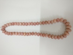 My DT Lifestyle Pink Opal Gemstone 10-14MM Faceted Roundel Beads