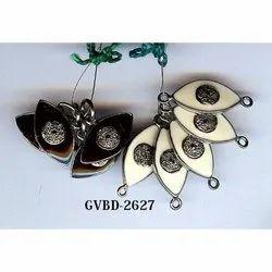 Enamel Sterling Silver Single Cut Diamond Beads