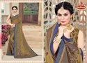 Black Rangoli Printed & Diamond Work Saree - Symphony