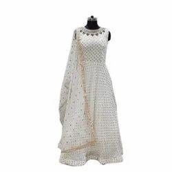 Viscose Ladies Bridal Wear Gown