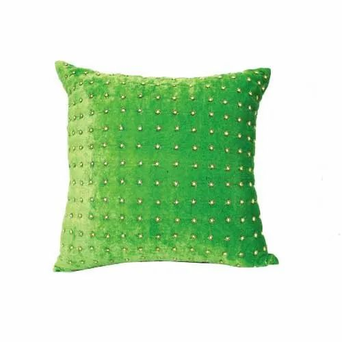 Decorative Green Velvet Cushion Cover