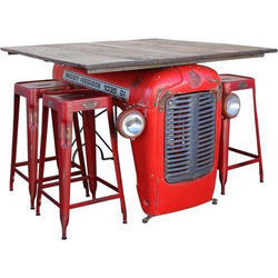 Tractor Wooden Table