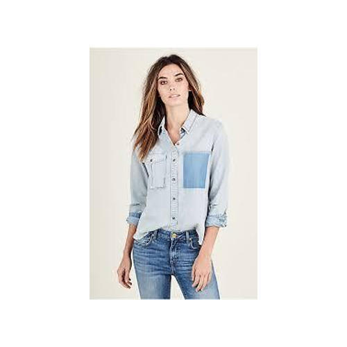 fbed31da Women Full Sleeves Light Blue Denim Shirt, Size: S To XXL, Rs 499 ...