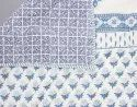 Cotton White Base Hand Block Print Jaipuri Quilt