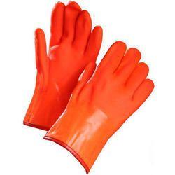 Plain Unisex PVC Safety Gloves